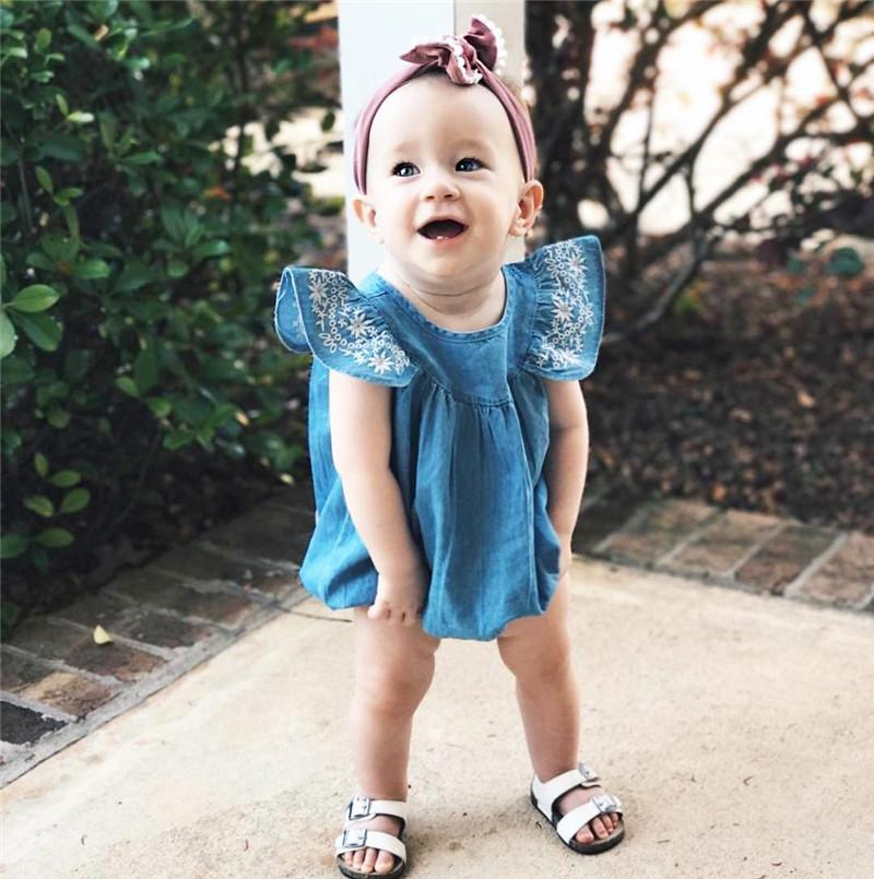 Jean Romper - The Trendy Toddlers