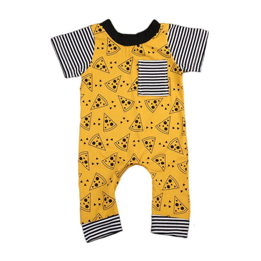 Striped Pizza Jumpsuit - The Trendy Toddlers