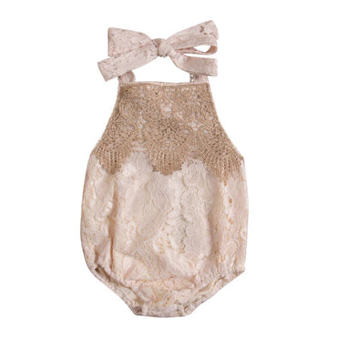 Lace Birthday Romper - The Trendy Toddlers
