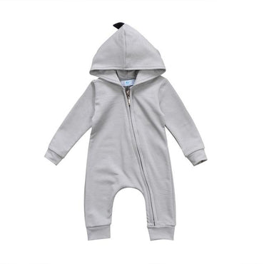 Dinosaur Zipper Jumpsuit - The Trendy Toddlers