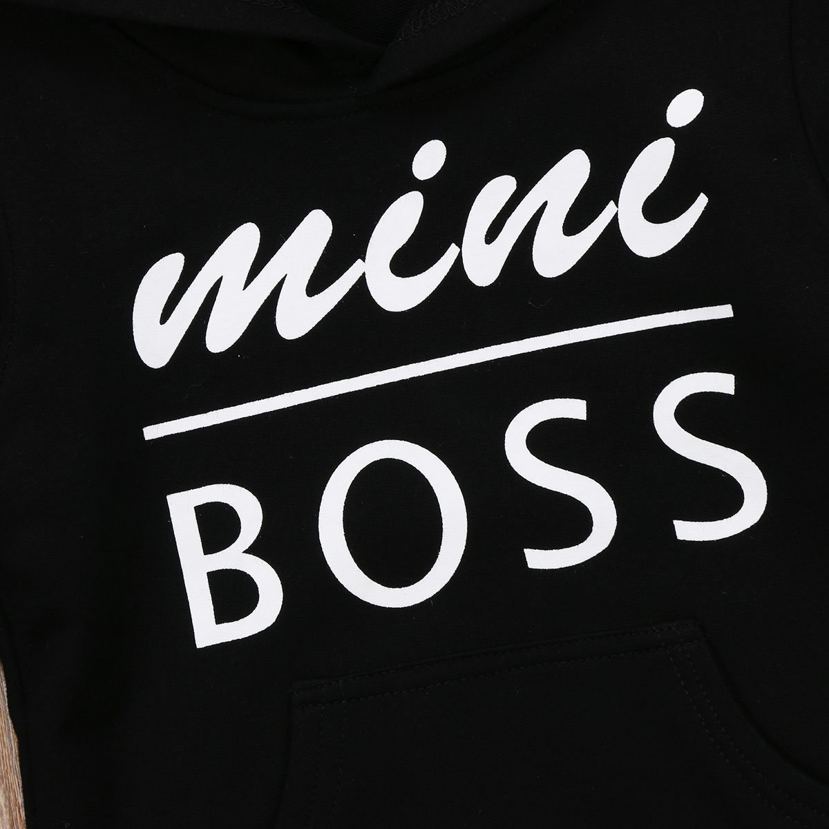 Mini Boss Black Hoodie - The Trendy Toddlers