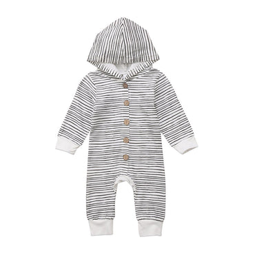 Stripe Hooded Jumpsuit - The Trendy Toddlers
