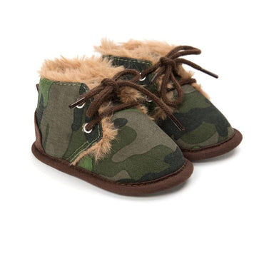 Camo Faux Fur Boots - The Trendy Toddlers