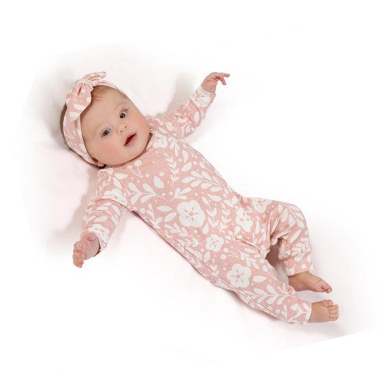 Pink Long Sleeve Jumpsuit - The Trendy Toddlers