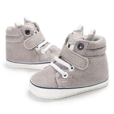 Gray High-Top Sneakers - The Trendy Toddlers