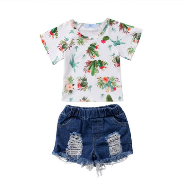 Cactus Denim Set - The Trendy Toddlers
