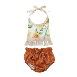 Fringe Sunflower Set - The Trendy Toddlers