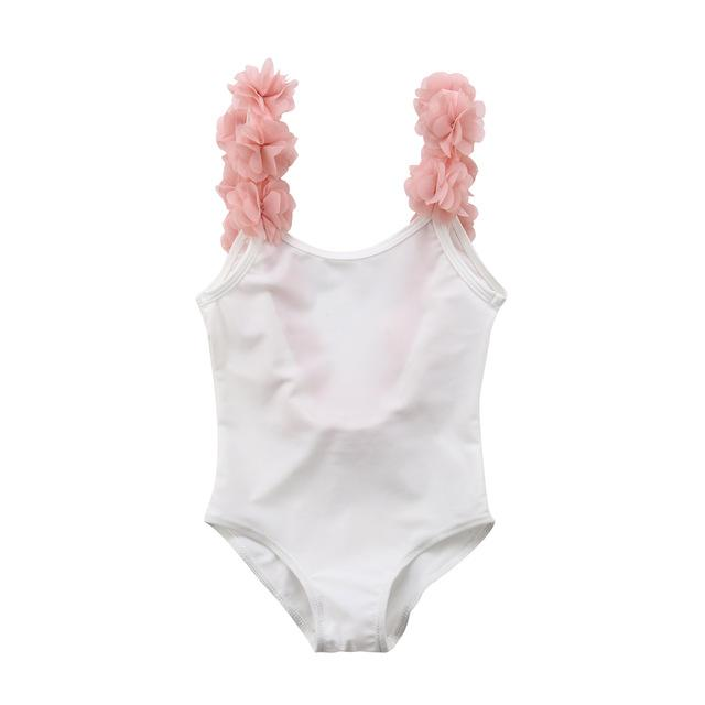 Floral Straps Swimsuit - The Trendy Toddlers