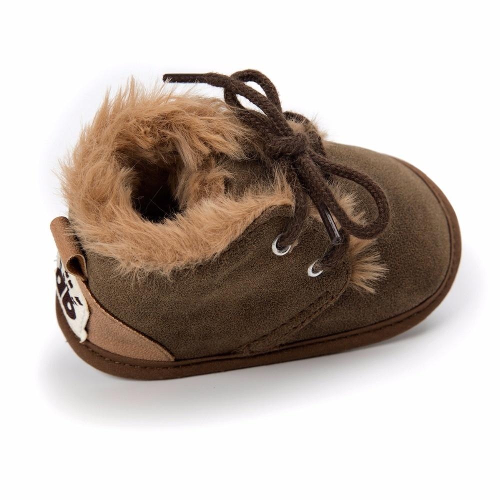 Dark Brown Faux Fur Boots - The Trendy Toddlers