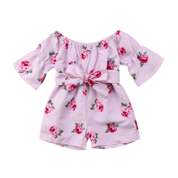 Floral Striped Romper - The Trendy Toddlers
