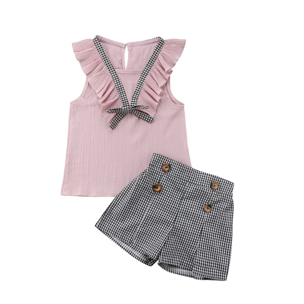 Pink Plaid Set - The Trendy Toddlers