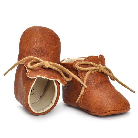 Tan Leather Boots - The Trendy Toddlers