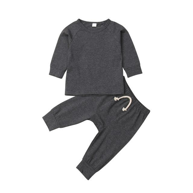 Solid Tracksuit Set - The Trendy Toddlers