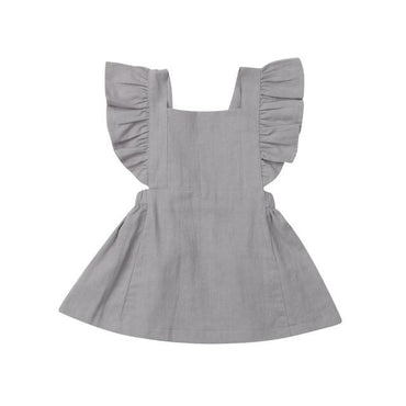 Ruffle Solid Dress - The Trendy Toddlers