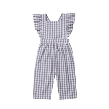 Plaid Jumpsuit - The Trendy Toddlers