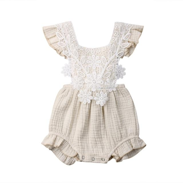 Lace Vintage Romper - The Trendy Toddlers