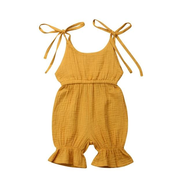 Solid Ruffle Jumpsuit - The Trendy Toddlers