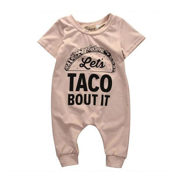 Taco Short Sleeve Jumpsuit - The Trendy Toddlers