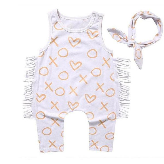 Hearts Tassel Jumpsuit - The Trendy Toddlers