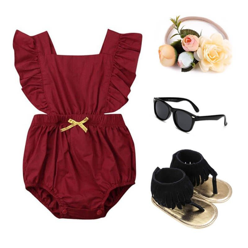 Baby Girl Ruffled Outfit Set
