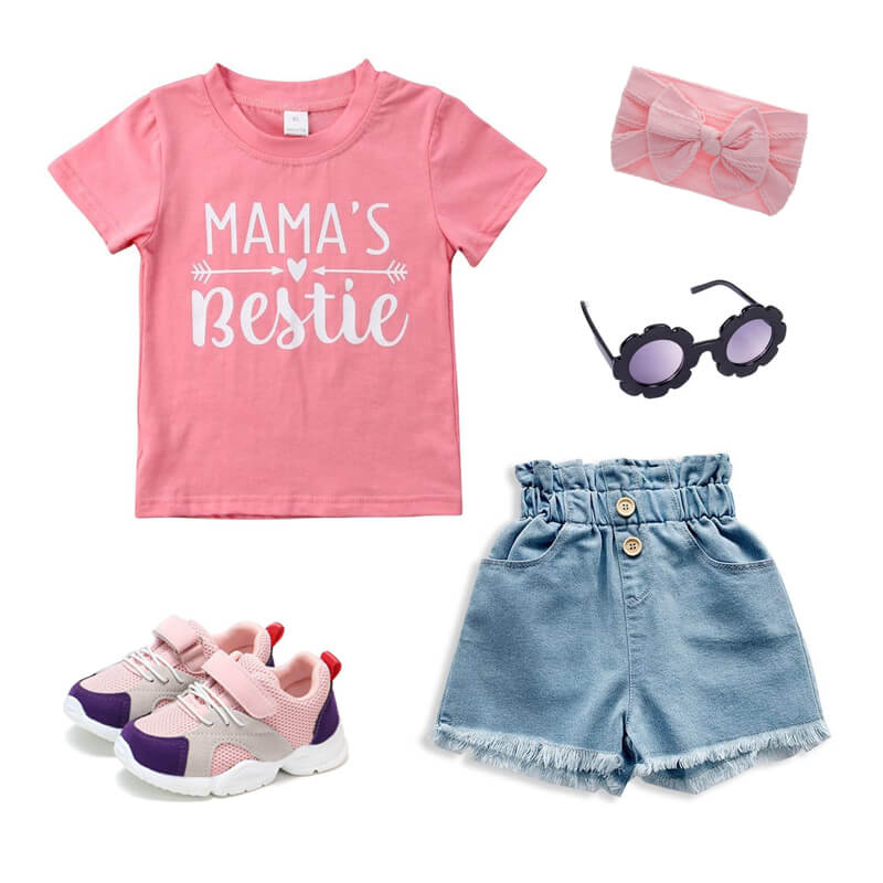 Toddler Girl Mama's Bestie Outfit