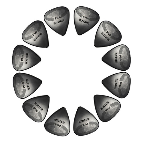 12Pcs 0.71mm Size Black strength Durability Guitar Pick Plectrums For Electric/Acoustic Guitar Parts Accessories