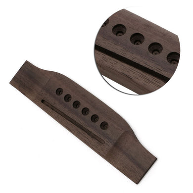 1Pc Guitar Parts Saddle Thru Guitar Bridge For Acoustic Guitar Rosewood Guitar Accs