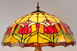 "18"" Colonial Tulip Tiffany Floor Lamp"