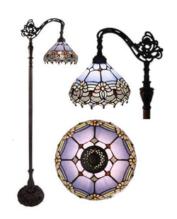 Waratah Style Leadlight Stained Glass Bridge Arm Tiffany  Floor Lamp