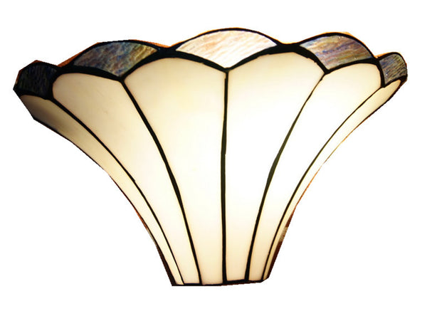 Lilly Soft curved linesTiffany Style Wall Sconce