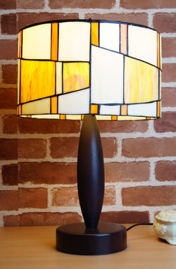 "12"" Drum Shade Tiffany Style Contemporary Table Lamp"