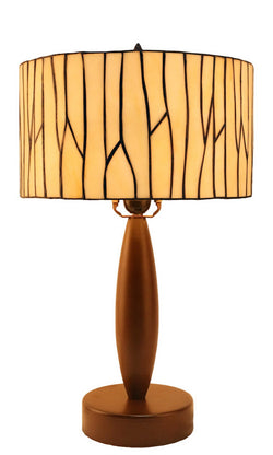"12"" Minimalism style Drum Shade Tiffany Table Lamp"