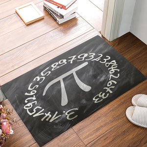Fantasy Staring Mathematical Symbol Doormats Non Slip Backing Rubber Entrance Floor Rugs Door Mats Shoes Scraper Carpet for Indoor/Front Door/Bathroom/Kitchen/Bedroom 18 x 30 Inch