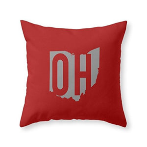"Roses Garden Ohio State Pride 16"" x 16"" Throw Pillow Indoor Cover(not include insert)"