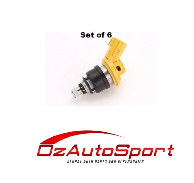 NEW 550 555cc fuel injectors x 6 for Nismo Nissan Skyline Stagea R33 RB25DET ECR