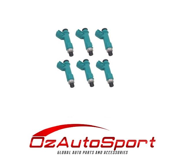 6 FUEL INJECTORS for TOYOTA HILUX GGN15R 1GRFE 4L V6 2005-ON INJECTOR AISAN