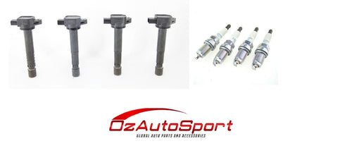 4 x Quality Ignition Coils for Honda Accord Euro CL9 2.4L K24A3 + NGK Plugs