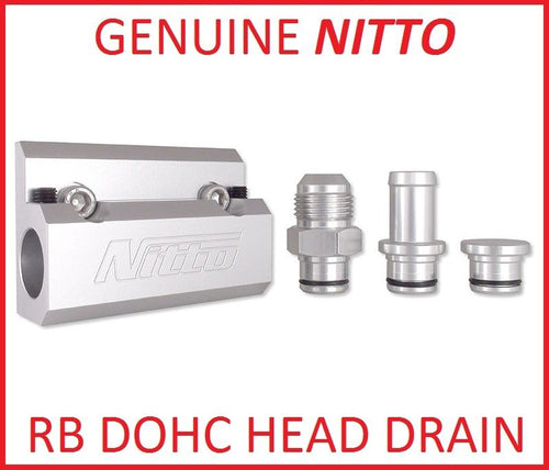 NITTO RB HEAD OIL DRAIN 5/8 HOSE FITTING  for NISSAN SKYLINE RB20 RB25 RB26
