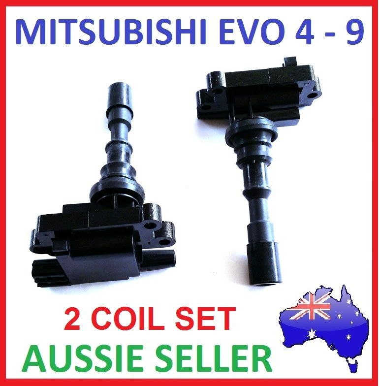 2 x IGNITION COILS COIL PACKS for MITSUBISHI LANCER EVOLUTION EVO 4 5 6 7 8 9 4G63