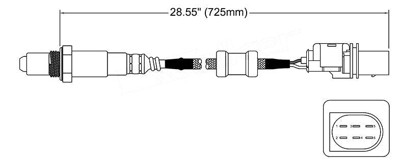 Front Oxygen Sensor O2 For Audi A3 S3 TT 2004 onwards Pre-Cat OEM Quality