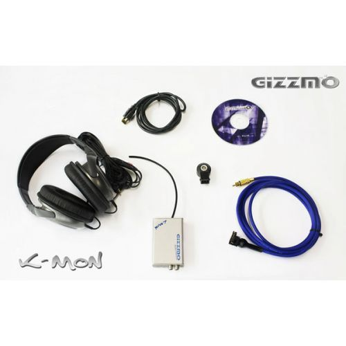 New Genuine * GIZZMO * KMON K-MON Knock Monitor Sensor System w/ Headphones