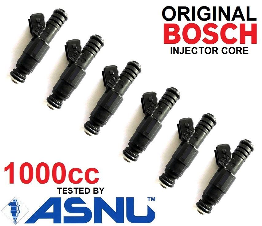 6 BOSCH Fuel Injectors for Ford BA BF XR6 turbo 1000cc 95lb E85 EV6 FPV HSV