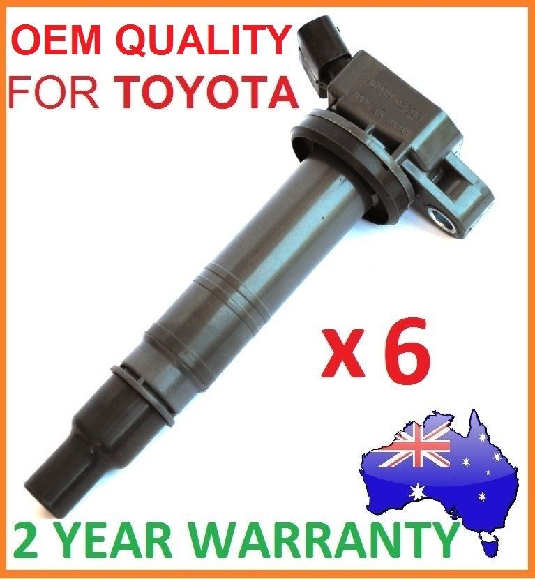 IGNITION COILS x 6 for TOYOTA 4RUNNER / PRADO / HILUX 4.0L 6 CYL  9091902248 COI