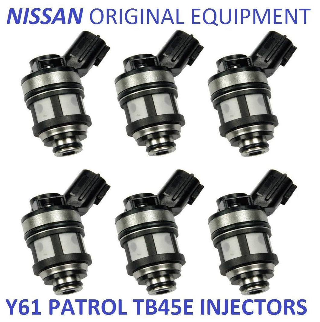 6 FUEL INJECTORS for NISSAN PATROL GU Y61 TB45E 4.5L 97-00 INJECTOR 4WD TB45