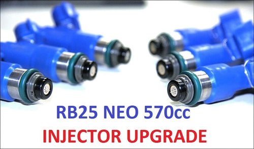 6 x 570CC Fuel Injectors for NISSAN SKYLINE R34 RB25DET NEO DENSO ER34 ASNU