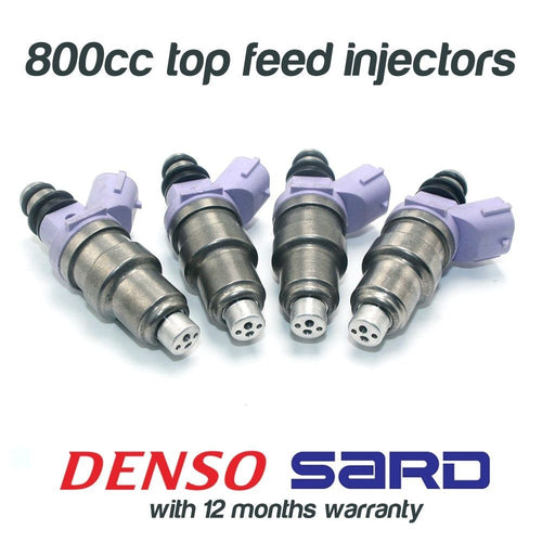 4 800cc FUEL INJECTORS for DENSO MITSUBISHI EVO 1 2 3 4 5 6 7 8 9 SARD 63564