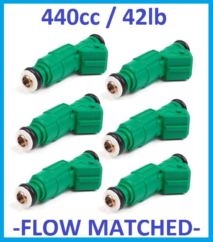 Fuel Injectors x 6 440cc 42lb for HOLDEN V6 VN VZ FORD FPV BA BF XR6 0 280 155 9