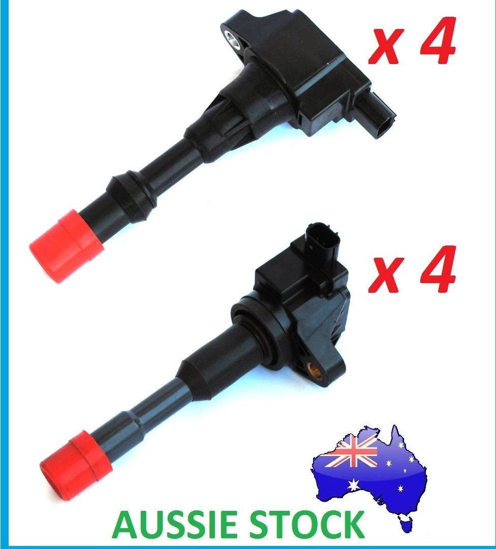 IGNITION COIL SET OF 8 INLET & EXHAUST SIDE for HONDA CIVIC 1.3L & JAZZ GD GE 1.