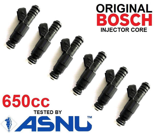 6 Bosch Fuel Injectors for BMW E36 E46 M50 M52 S50 M3 TURBO 60lb 62lb 65lb EV6 650cc