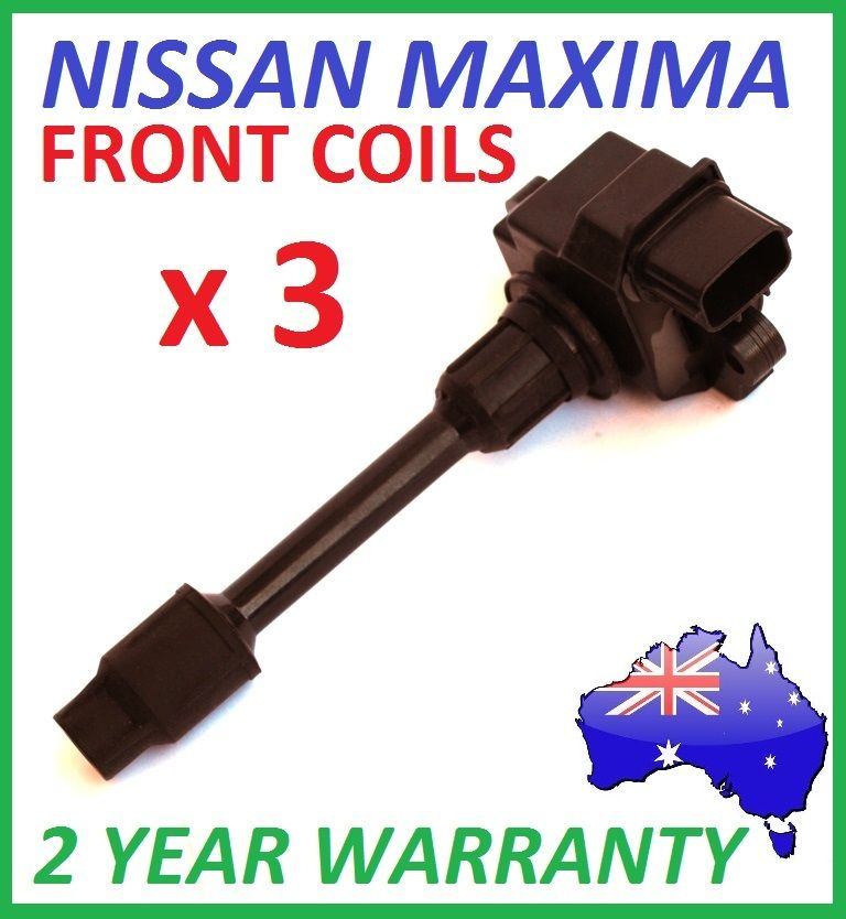 FRONT IGNITION COILS x 3 for NISSAN MAXIMA A32 3.0L VQ30DE 1995 > 2000